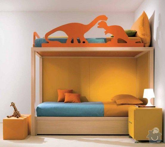 Nábytek na míru - patrová postel - 2 VARIANTY: ae0abad4a9bdfccc2fb1a564a9e202b2