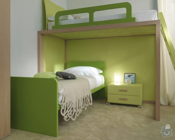 Nábytek na míru - patrová postel - 2 VARIANTY: 51cf93cb4ae77f6fce5703ffea3aef85