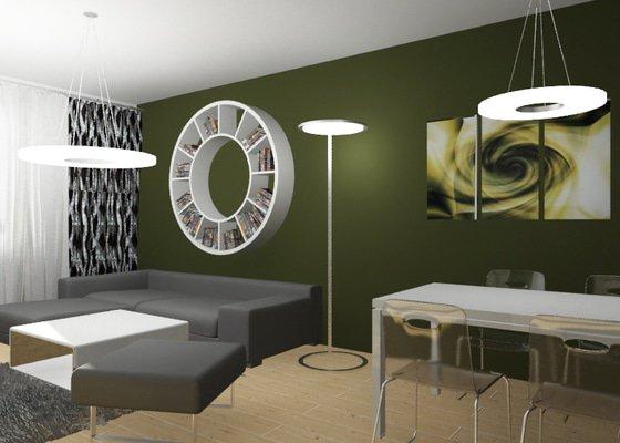 Modernizace obývacího pokoje v barvě khaki