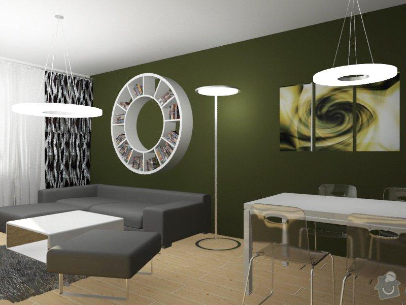 Modernizace obývacího pokoje v barvě khaki: Byt_Pristavni_obyvak_12