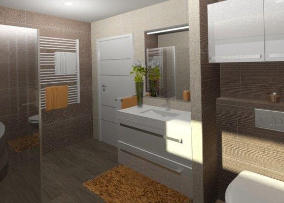 Návrh kuchyně, obývacího pokoje a koupelny
