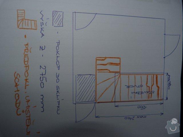 Výrobu mlynářského schodiště do malého prostoru: P1210134