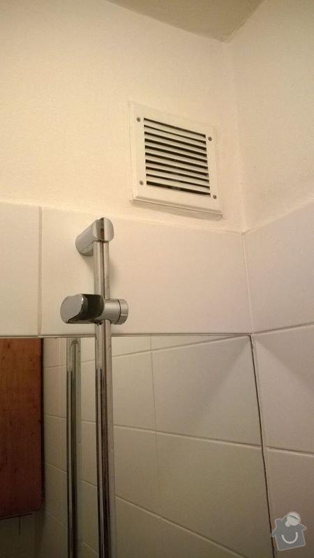 Návrh a zhotovení odvětrání koupelny a WC: WP_20140202_029