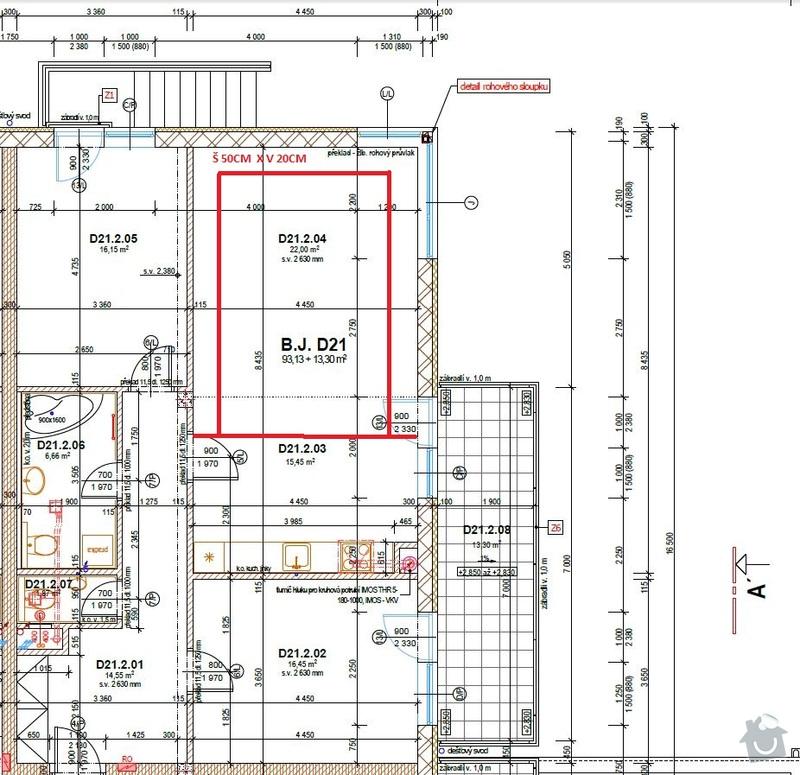 Sádrokartonové podhledy (2 pokoje): D21-vyrez