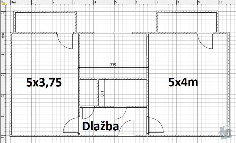Vyliti podlah cca 40m2 - anhydrit: Schema
