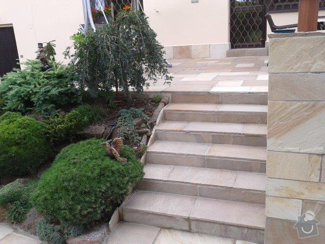 Přírodní kámen - terasa, schody: piskovec_schody