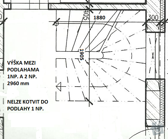 Interiérové schodiště: Schody_RD_Podlesi_aktualni_rozmery