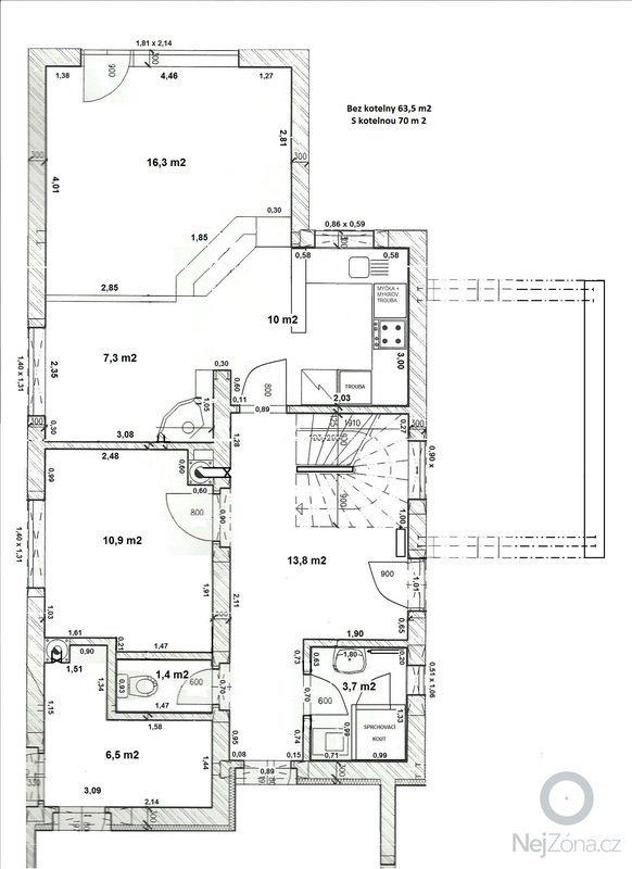Interiérové schodiště: Pudorys_1NP_rozmery_podlah_v_m2