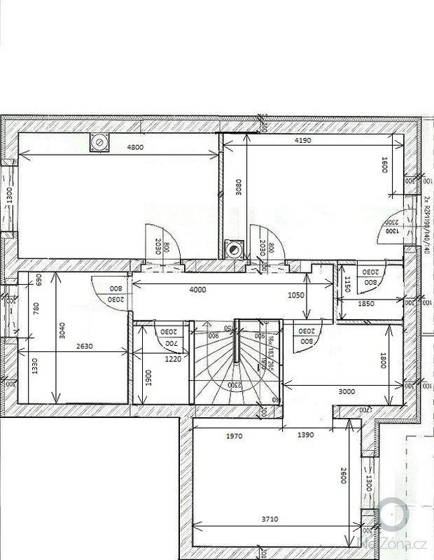 Interiérové schodiště: Pudorys_2_NP_stavajici_rozmery