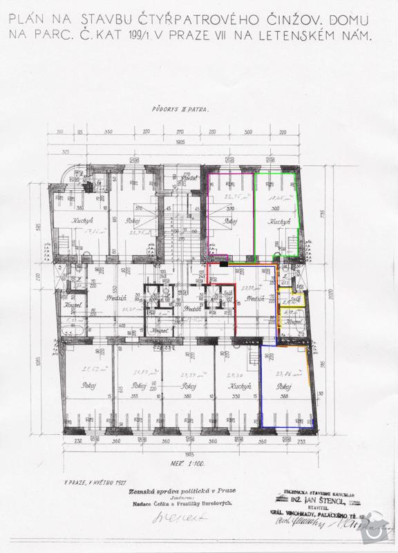 Rekonstrukce elektroinstalace v bytě 3+kk (94m²): Pudorys_Milady_Horakove_382-75-_1_elektrika