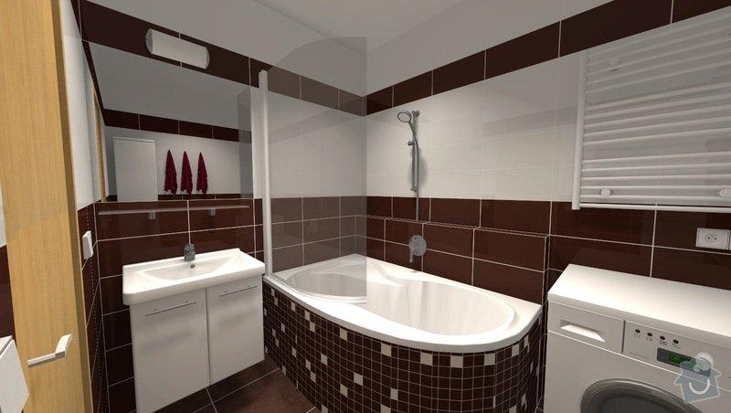 Rekonstrukce panelákové koupelny: r1