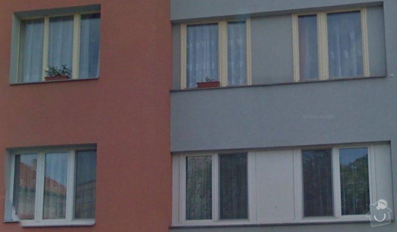 Nová plastová okna, panelákový byt 4+1, KT: okna1
