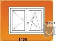 Výměna oken za plastová - byt 3+1: loznice_kuchyn