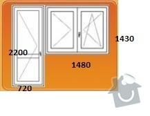 Výměna oken za plastová - byt 3+1: obyvak