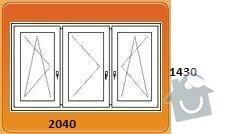 Výměna oken za plastová - byt 3+1: pokoj