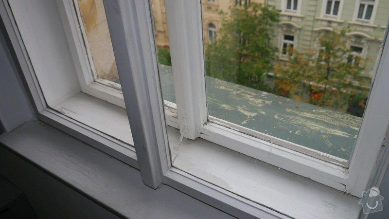 Oprava špaletových oken, těsnění: P1050588
