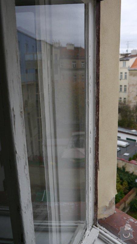 Oprava špaletových oken, těsnění: P1050592