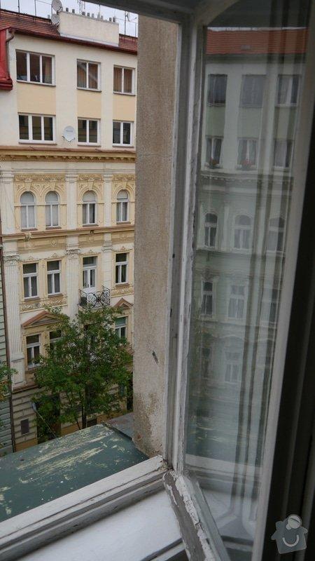 Oprava špaletových oken, těsnění: P1050590
