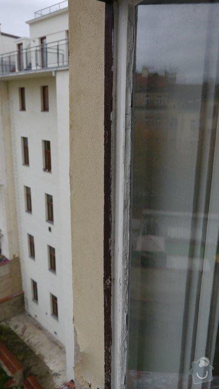 Oprava špaletových oken, těsnění: P1050593