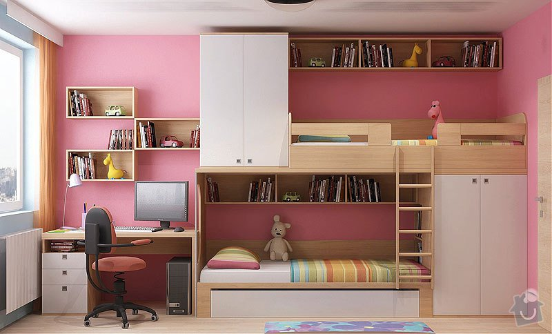 Dětský pokojík - palanda + nábytek: 484435
