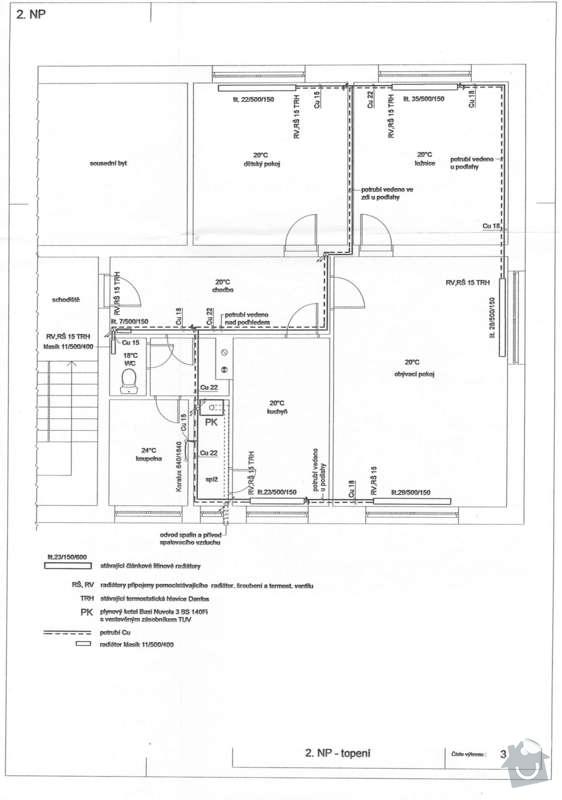 Rekonstrukce topení v bytě: Topeni