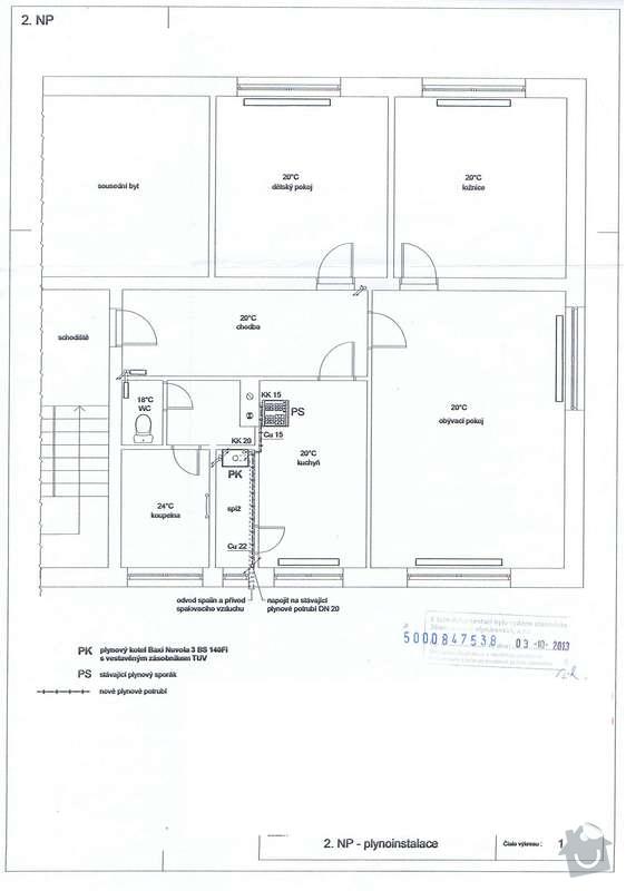 Rekonstrukce topení v bytě: Plynoinstslace