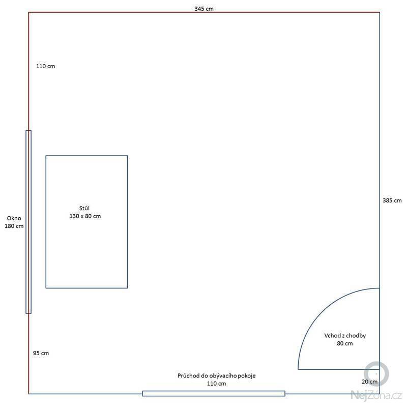 Návrh kuchyňské linky: Pudorys_kuchyne