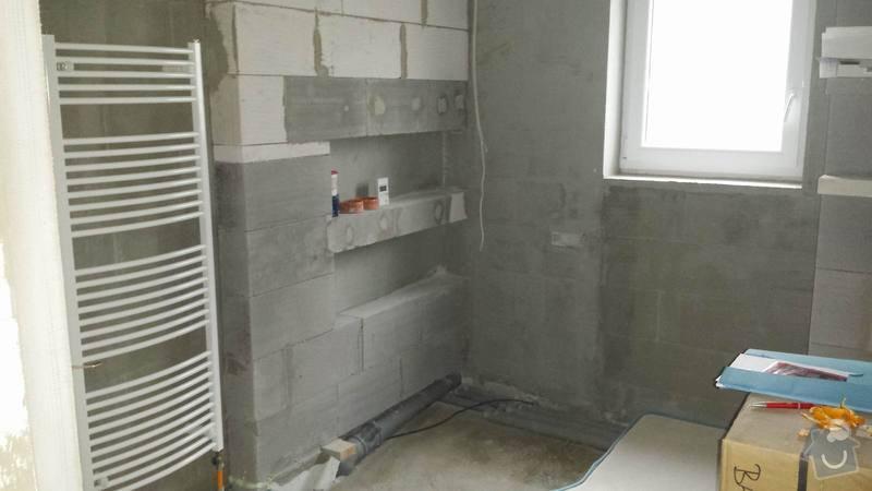Obkladačské práce v novostavbě RD - koupelna a WC: 20131102_150626