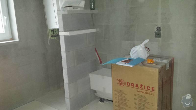 Obkladačské práce v novostavbě RD - koupelna a WC: 20131102_150708