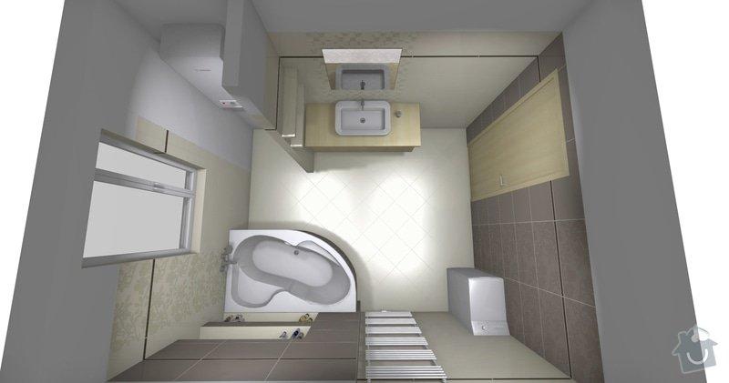 Obkladačské práce v novostavbě RD - koupelna a WC: koupelna_finalni