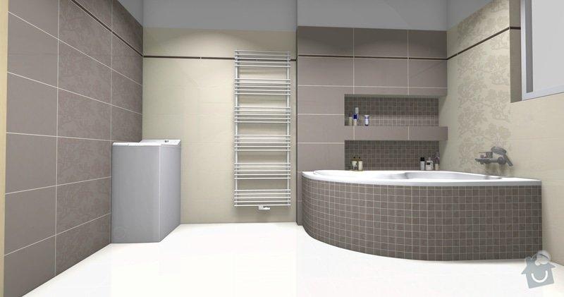 Obkladačské práce v novostavbě RD - koupelna a WC: koupelna_vana