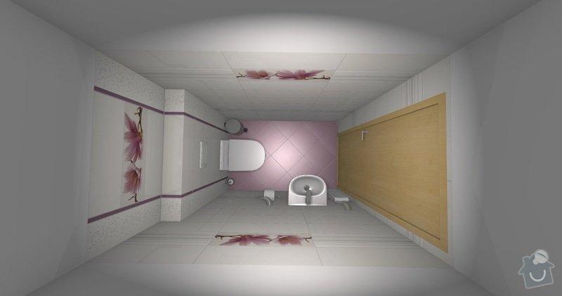Obkladačské práce v novostavbě RD - koupelna a WC: wc_finalni