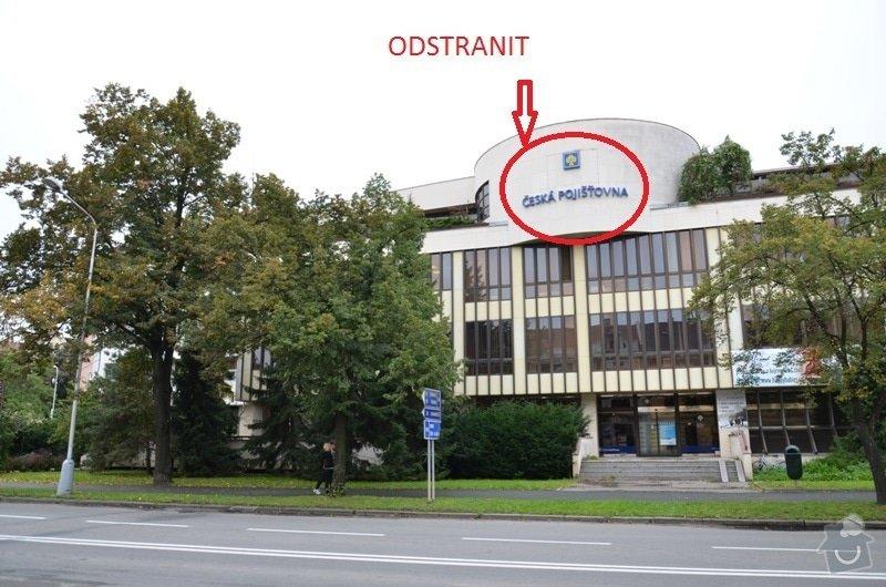 Odstranění  loga z fasády budovy: DSC_0338