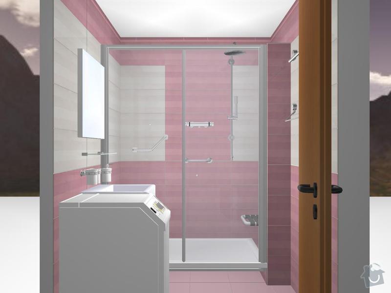 Kompletní rekonstrukce koupelny: 3D-07