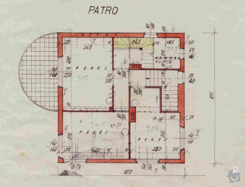 Provedení rekonstrokce s přístavbou včetně projektu a návrhu.: Patro
