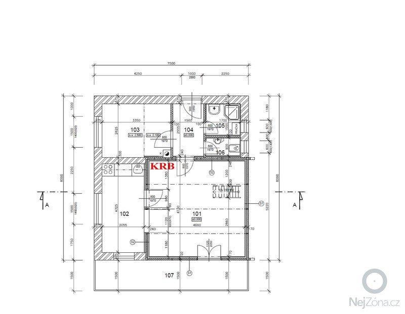 Stavba nového komínu: 02-Pudorys