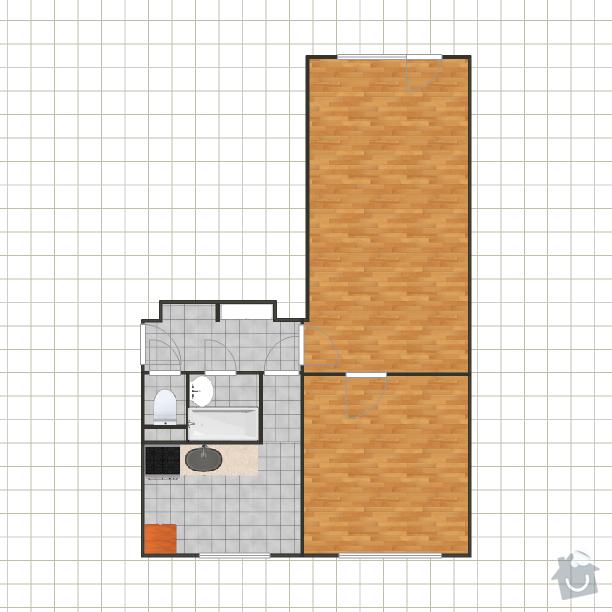 Rekonstrukce bytu 2+1 na 3+kk: Akualni_stav