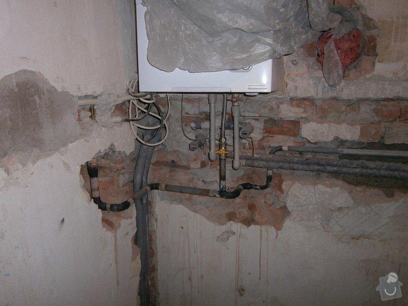 Rekonstrukce koupelný - voda+plyn+topení: 1