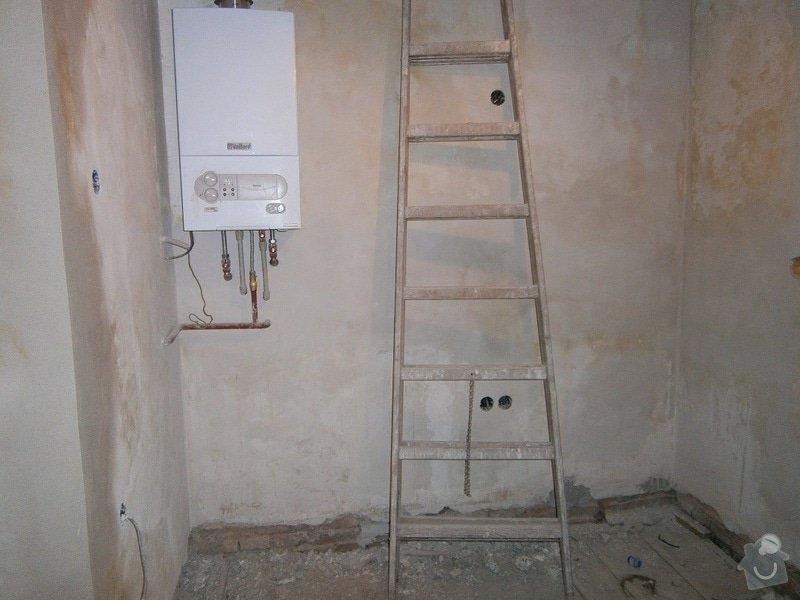Rekonstrukce koupelný - voda+plyn+topení: 2