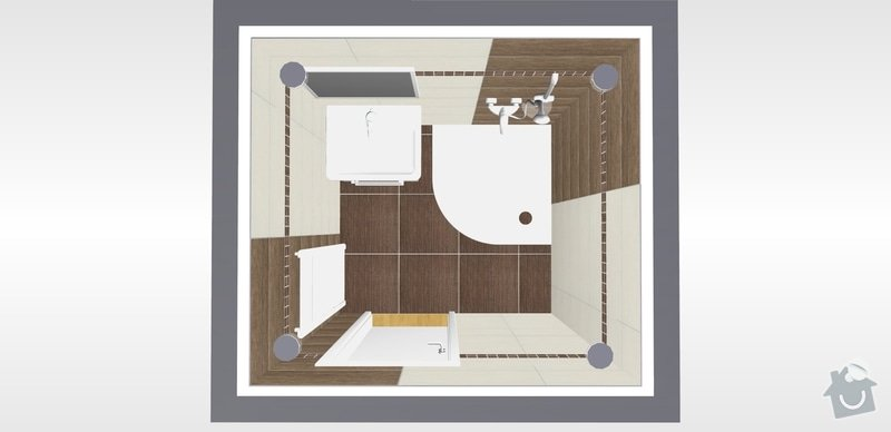 Rekonstrukce koupelný - voda+plyn+topení: 14