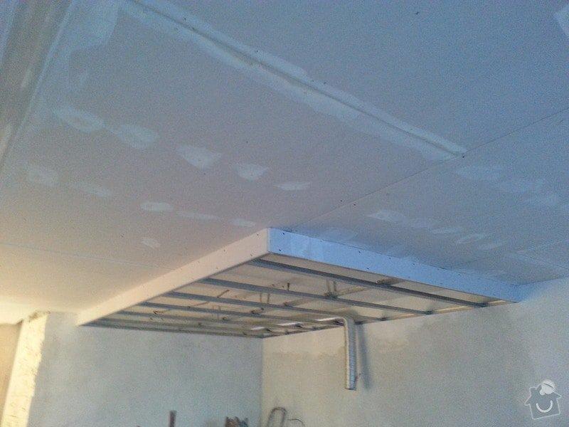 Podhled v prostoru obývák/kuchyň: 20140116_160137
