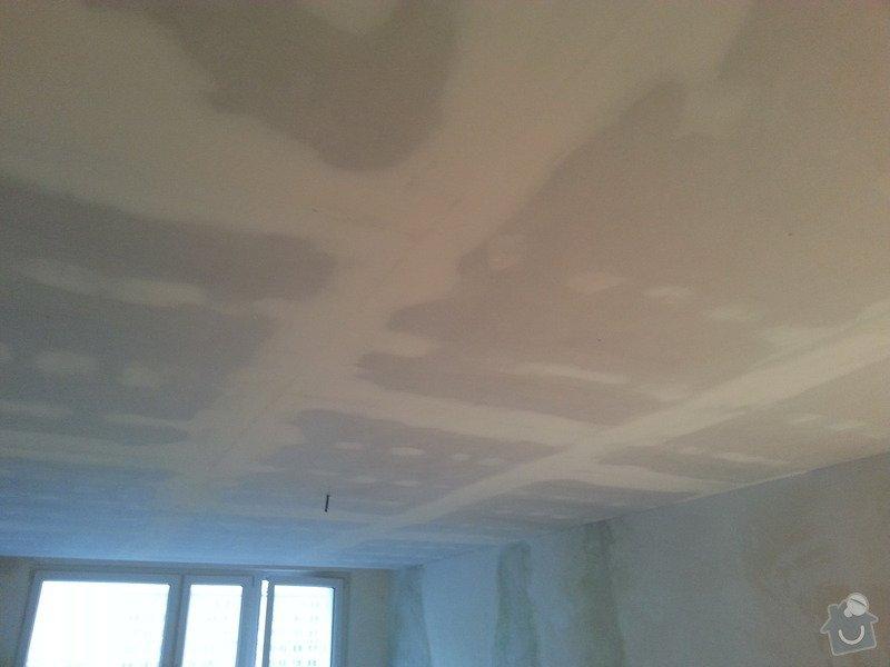Podhled v prostoru obývák/kuchyň: 20140117_104804