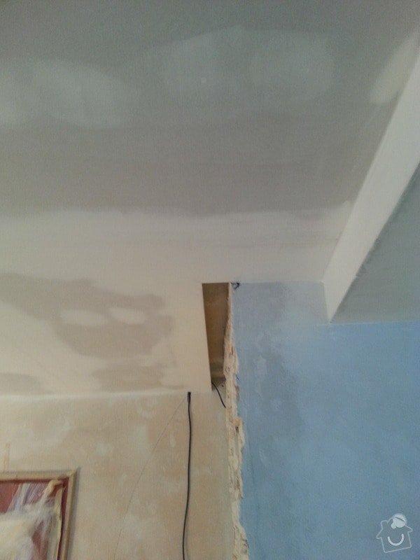 Podhled v prostoru obývák/kuchyň: 20140117_104812