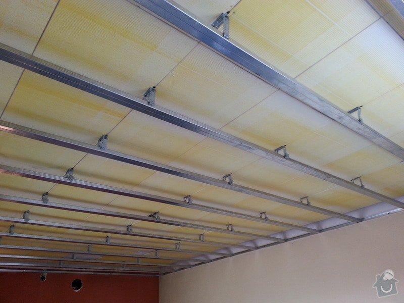 Sádrokarton-strop v obývacím pokoji: 20140204_105423