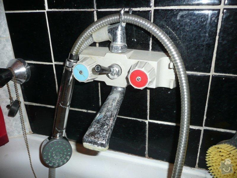 Výměna 3 vodovodních baterií: vana