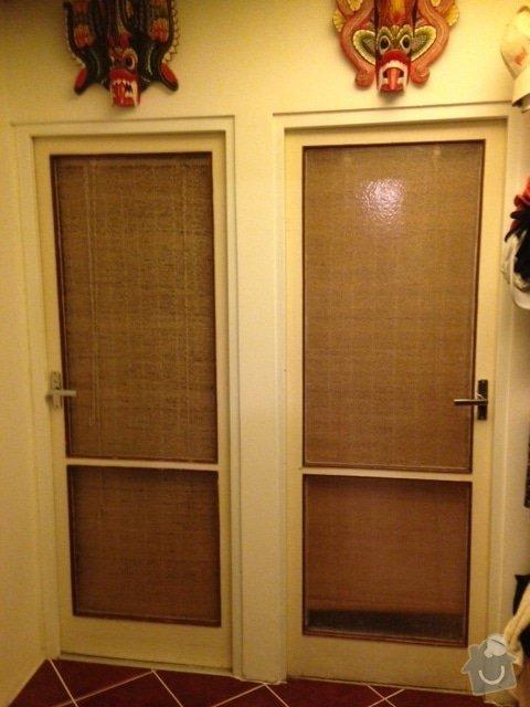 Dvoje vnitřní dveře - nalakování rámů: image