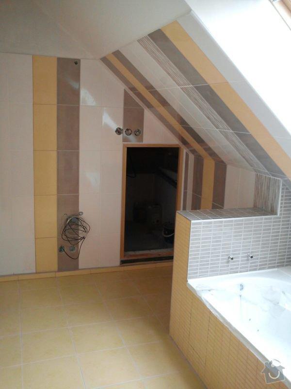 Obklad koupelny podkroví: DSC00699