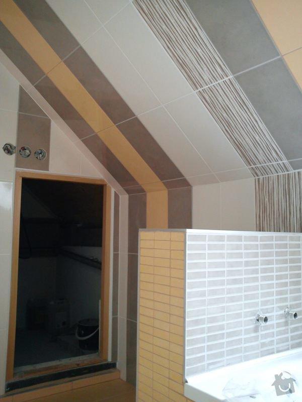 Obklad koupelny podkroví: DSC00700