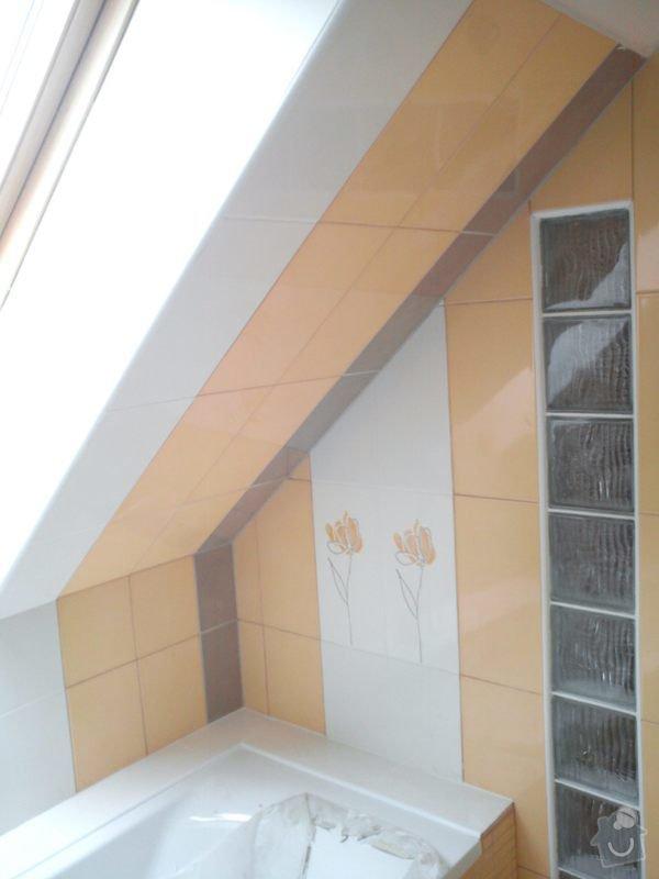 Obklad koupelny podkroví: DSC00703