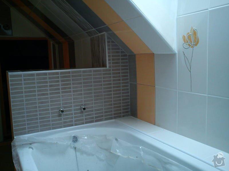 Obklad koupelny podkroví: DSC00705